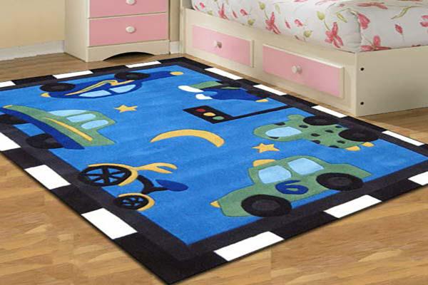 مدل فرش کودک پسرانه